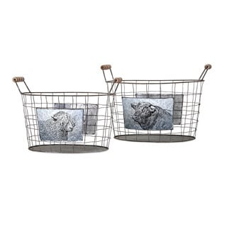 Ella Elaine Farm Baskets (Set of 2)