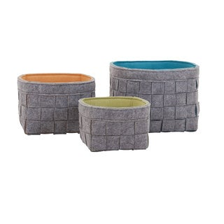 Meagan Felt Baskets (Set of 3)