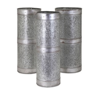 Sawyer Galvanized Planters (Set of 3)
