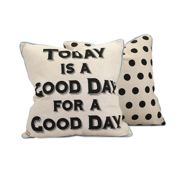 Good Day 18-inch Throw Pillow