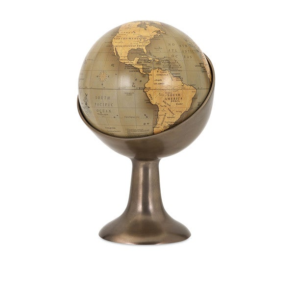 Marlowe Globe in Aluminum Stand
