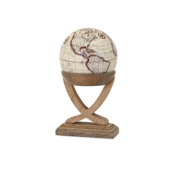 Merrin Globe with Wood Base - Small