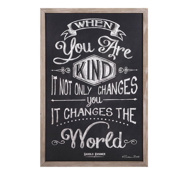 Kindness Changes The World Wall Decor