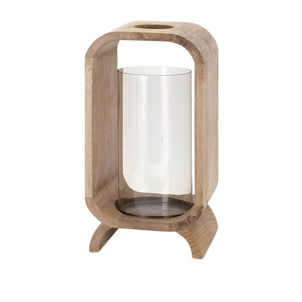 Quinn Wood Candle Holder