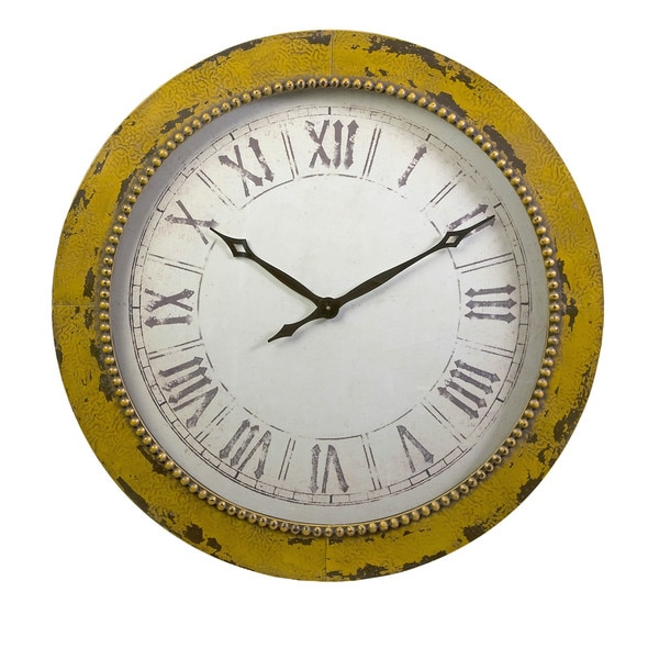 Bryony Yellow Wall Clock