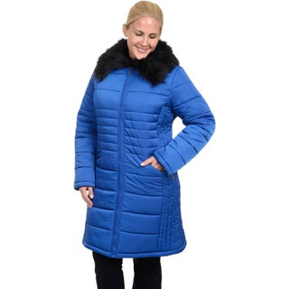 Excelled Women's Plus Polyester Quilted 3/4 Puffer