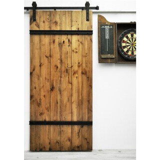 Dogberry Drawbridge 36 x 82 inch Barn Door with Sliding Hardware System