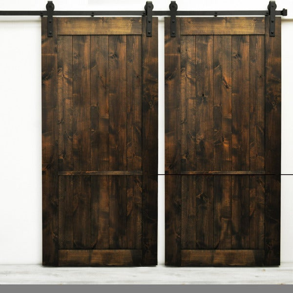 Dogberry country vintage 82 inch double barn 17638270 for 40 inch interior barn door