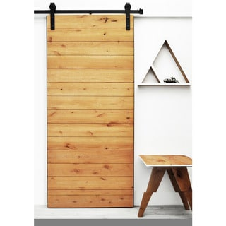 Dogberry Latitude 36 x 82 inch Barn Door with Sliding Hardware System