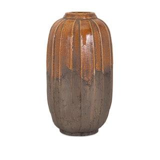 Simone Orange Stone Large Ceramic Vase