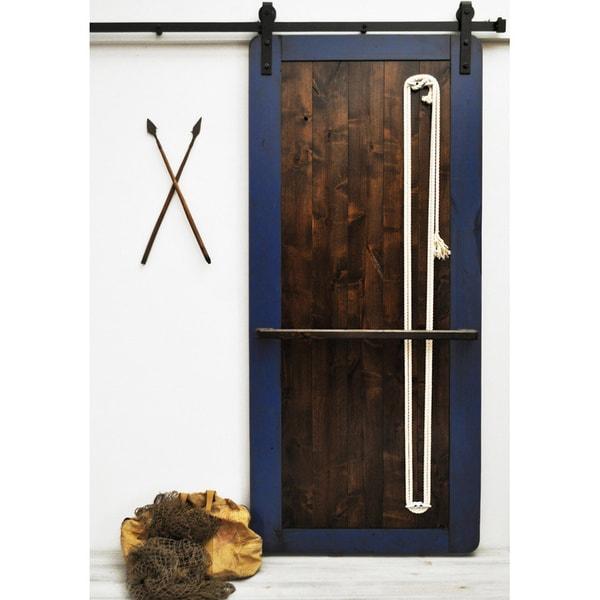Dogberry nautilus 96 inch barn door 17638256 overstock for 48 inch barn door