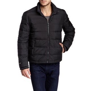 Kenneth Cole New York Men's Black Quilted Down Puffer Jacket