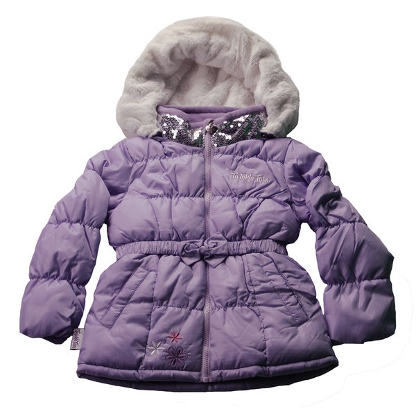 Twinkle Toes Girls' Parka With Removable Hood