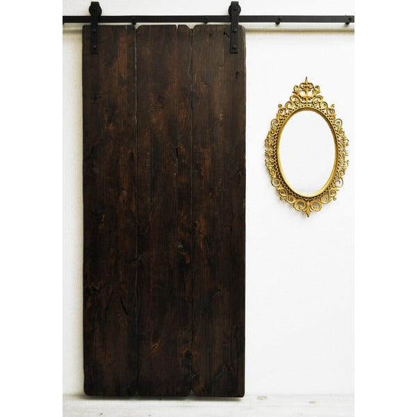 Dogberry tuscan villa 36 x 82 inch barn door with sliding for 48 inch barn door