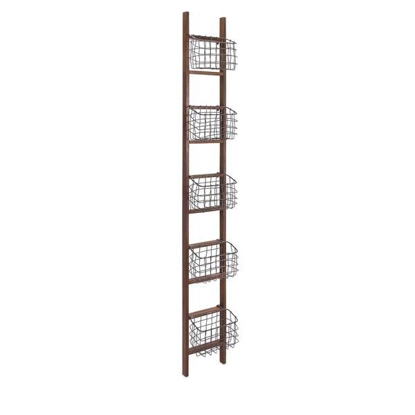 Carlow Wood Ladder Shelf - 17638429 - Overstock.com Shopping - Great ...