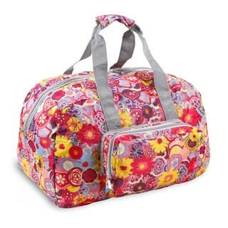 J World Poppy Pansy Buena 19-inch Foldable Duffel Bag