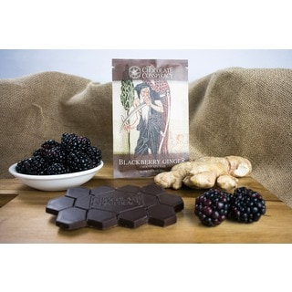 The Chocolate Conspiracy Blackberry Ginger Bars (Pack of 2)