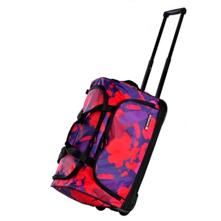 Olympia 21-inch Pink Paint Fashion Carry-on Rolling Duffel Bag