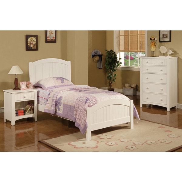 Hlobyne white 3 piece youth bedroom set 17638613 for Bedroom 3 piece sets
