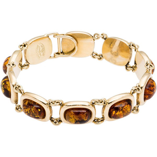 14k Yellow Gold Amber Estate Bracelet