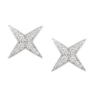 18k White Gold 1/3ct TDW Diamond Star String Estate Stud Earrings by Mauboussin (G-H, VS1-VS2)