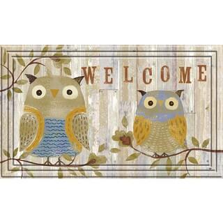 Naturelles 30-inch 'Welcome Owls' Multi Door Welcome Mat