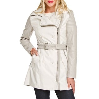 Laundry by Shelli Segal Ivory White Trench Coat