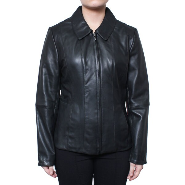 Donnybrook Women's Zip Front Genuine Leather Jacket 16239333
