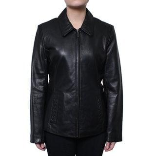 Donnybrook Women's Zip Front Genuine Leather Jacket