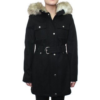 Esprit Women's Belted Wool Coat with Patch Pockets