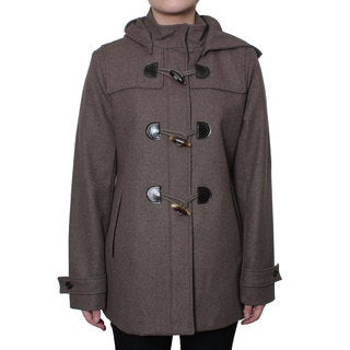 Esprit Women's Wool Coat with Toggle Front Closure