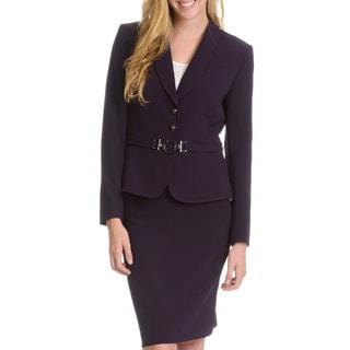 Tahari Arthur S. Levine Women's Circle Belt Skirt Suit