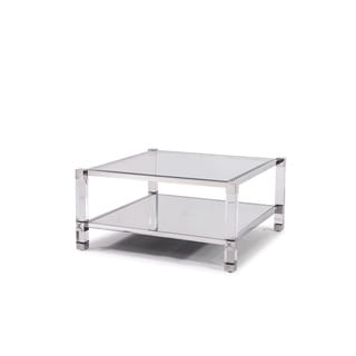 Acrylic coffee sofa end tables overstock shopping for Overstock acrylic coffee table