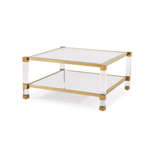 Santa Monica Gold Square Coffee Table