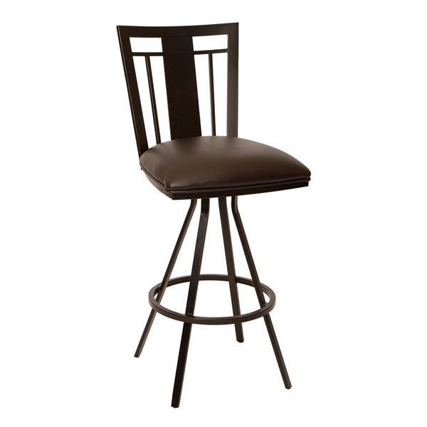 Cleo 26-inch Transitional Barstool In Coffee Leatherette