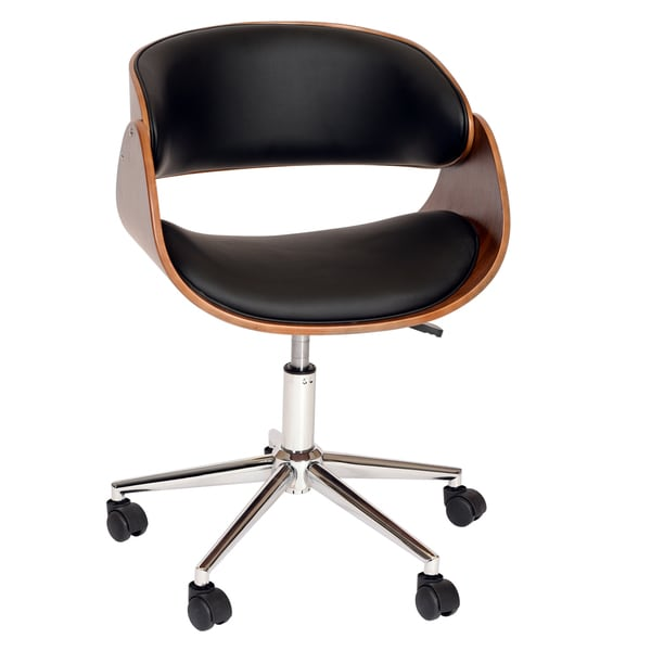 Julian Modern Chair In Black Leatherette And Chrome