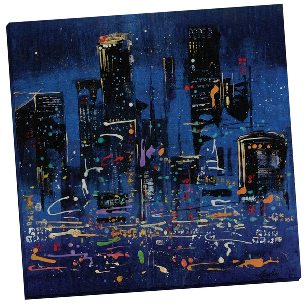 Boogie Nights III' By Angellini Size 24x24, Wrapped/Stretched Canvas Wall Art