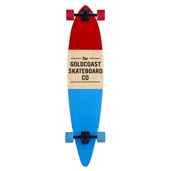 GoldCoast Standard Red Pintail Complete Longboard