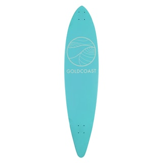 GoldCoast Classic Turquoise Pintail Longboard Deck