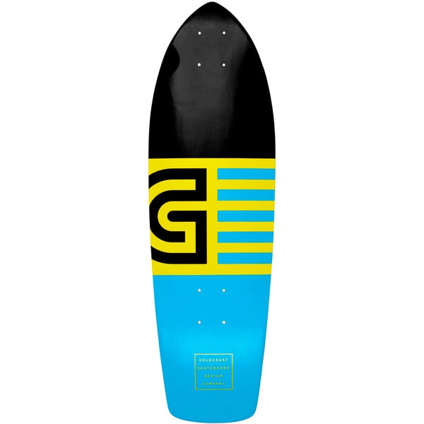 GoldCoast Jetty Blue Cruiser Skateboard Deck
