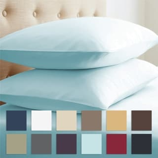 Merit Linens Ultra-Soft 100-percent Double-Brushed Microfiber 2-piece Pillow Case Set