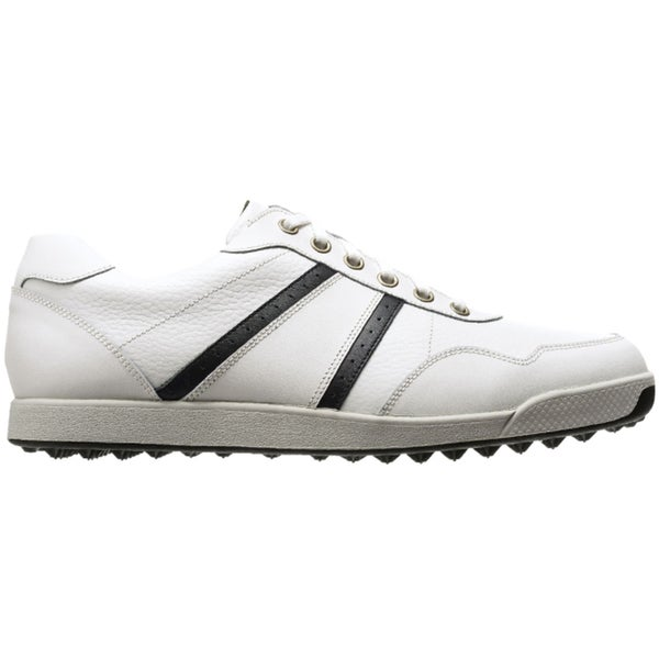 FootJoy Mens Contour Casual Spikeless White-Black Golf Shoes
