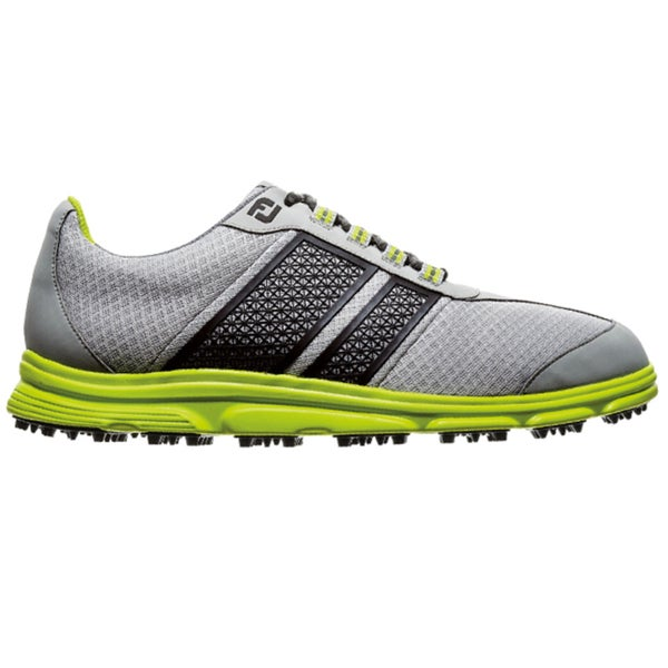 FootJoy Mens FJ Superlites Spikeless Light Grey-Black Golf Shoes