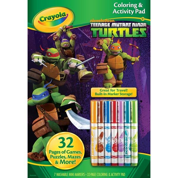Crayola Coloring And Activity Pad W/MarkersTeenage Mutant Ninja Turtles 16240198