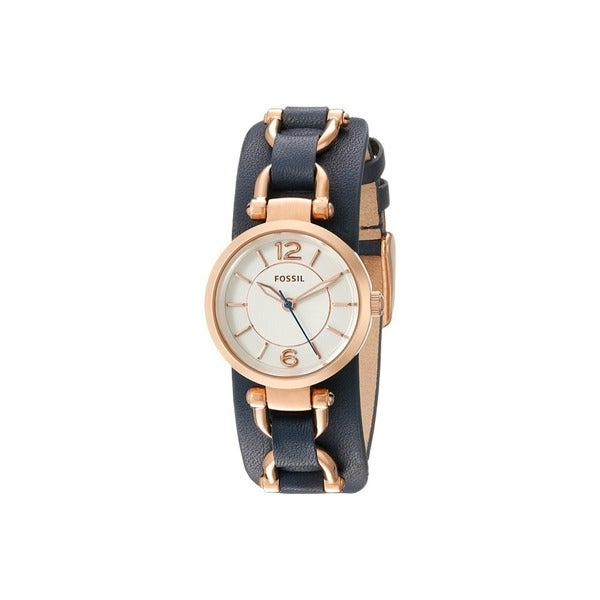 Fossil Women's ES3857 'Georgia Artisan' Blue Leather Watch