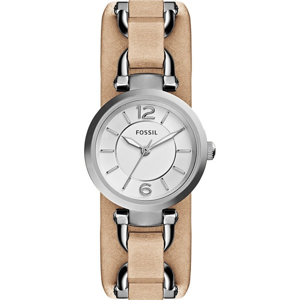 Fossil Women's ES3854 'Georgia Artisan' Brown Leather Watch