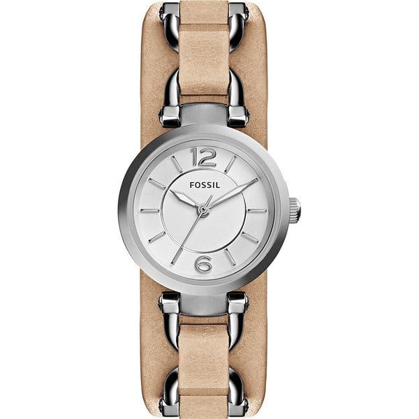 Fossil Women's ES3854 'Georgia Artisan' Brown Leather Watch