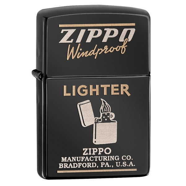 Zippo Windproof Ebony Lighter