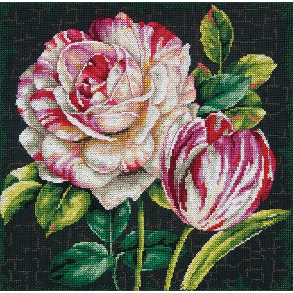 Tulip Drama Counted Cross Stitch Kit12inX12in 14 Count