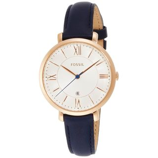 Fossil Women's ES3843 'Jacqueline' Blue Leather Watch